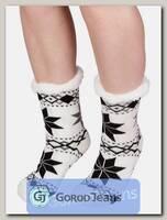 Носки-тапочки женские меховые D-06-5