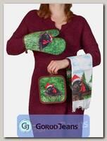 Комплект подарочный полотенце/прихватка/рукавица НКП-008-4