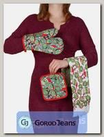Комплект подарочный полотенце/прихватка/рукавица НКП-008-9