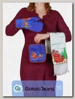 Комплект подарочный полотенце/прихватка/рукавица НКП-008-2